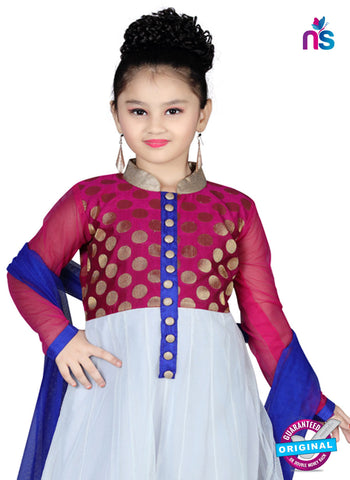 RT 13139 Off White, Purple Readymade Anarkali Suit