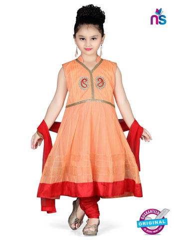 RT 13140 Peach Readymade Anarkali Suit