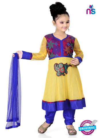 RT 13141 Yellow Readymade Anarkali Suit