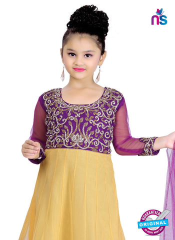 RT 13142 Yellow Readymade Anarkali Suit