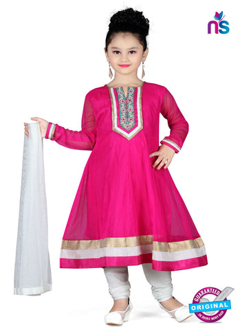 RT 13143 Dark Pink Readymade Anarkali Suit