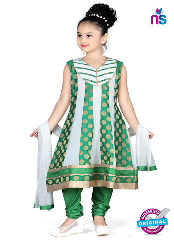 RT 13144 Green, Off White Readymade Anarkali Suit