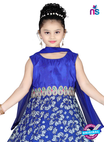 RT 13145 Blue Readymade Anarkali Suit