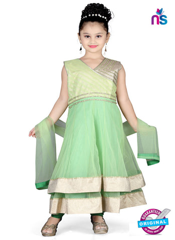 RT 13147 Green Readymade Anarkali Suit