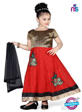 RT 13149 Red Readymade Anarkali Suit