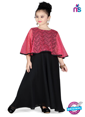 RT 13150 Black, Pink Readymade Gown