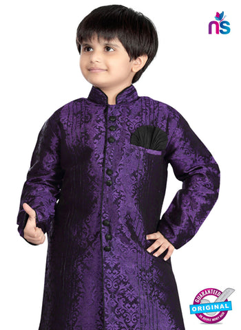 RT 13197 Purple Jacquard Sherwani