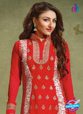 NS10451 Red Georgette Straight Suit Online