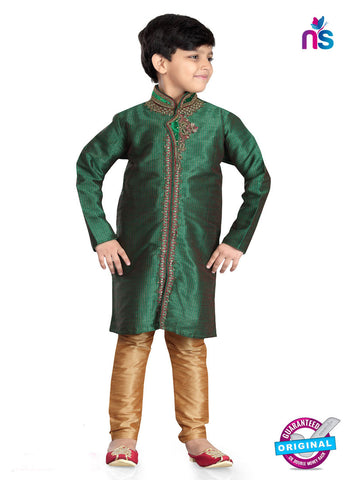 RT 13202 Green Art Dupion Sherwani