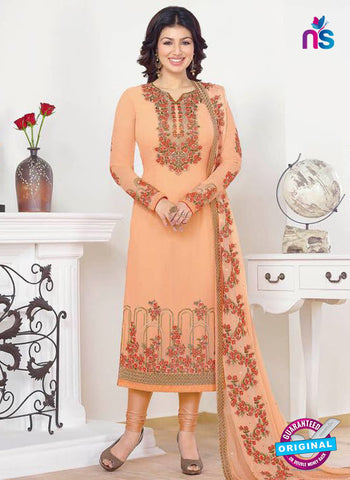 Zubeda 13204 Peach Party Wear Suit