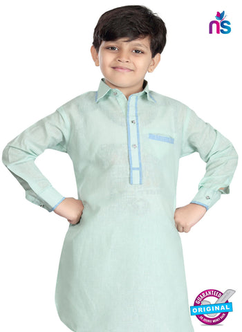 RT 13204 Green Cotton Silk Kurta Pyjama