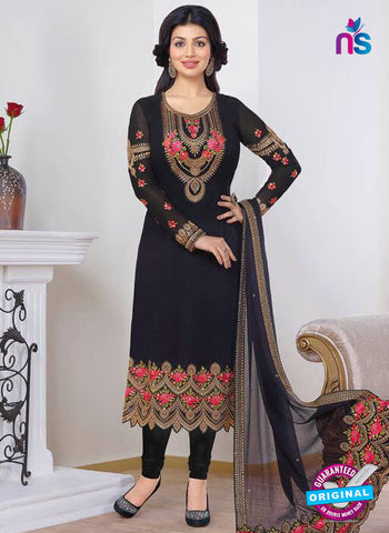 Zubeda 13205 Black Party Wear Suit