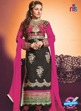 NS10452 Black and Pink Georgette Straight Suit Online
