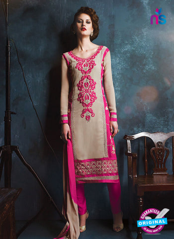 RT 13181 Pink Georgette Party Wear Straight Suit