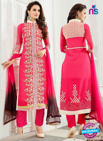 RT 13246  Peach  Georgette Unstitched Designer Plazo Suit