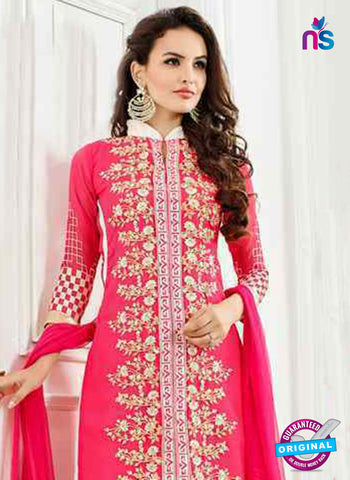 Peach Georgette Unstitched Designer Plazo Suit