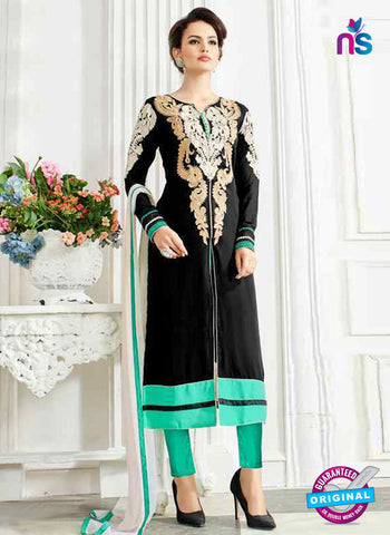 RT 13249  Black  Georgette Semi Stitched Designer Plazo Suit
