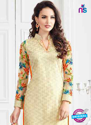 Net Unstitched Designer Plazo Suit
