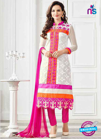 RT 13252 Off  White  Georgette Semi Stitched Designer Plazo Suit