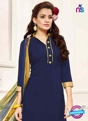 Blue Crepe Designer Patiala Suit