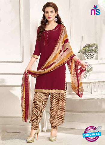RT 13191 Maroon Crepe Designer Fancy Patiala Suit
