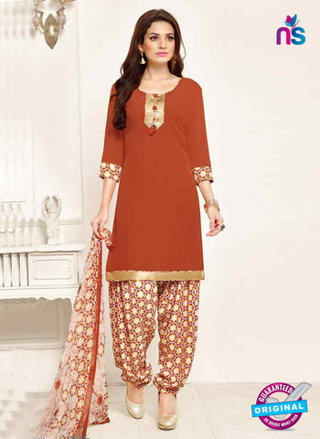 RT 13192 Brown Crepe Designer Fancy Patiala Suit