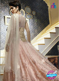 AZ 2093 Pink and White Net Designer Gown