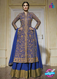 Bela 1358 Blue Georgette Net Designer Pakistani Suit