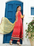 Jay Vijay 1364 Red Color Cotton Satin Designer Suit