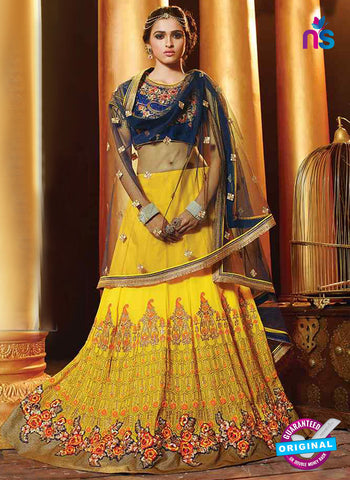 RT 13704 Yellow Georgette Designer Lehenga