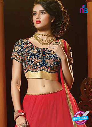 RT 13705 Red Georgette Designer Lehenga