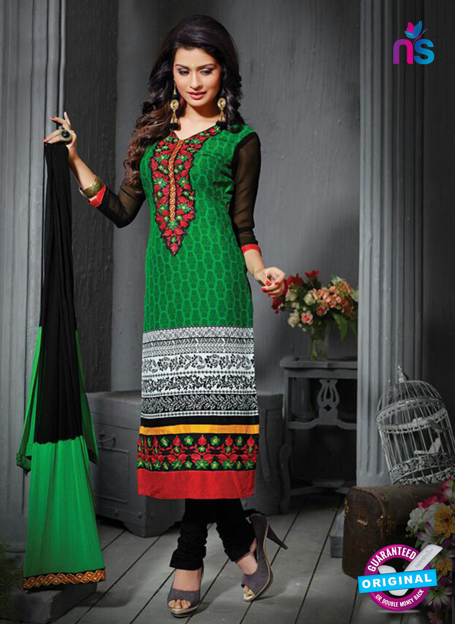 NS12204 Green and Black Straight Suit