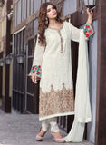 TM 13  White Color Georgette Designer Suit