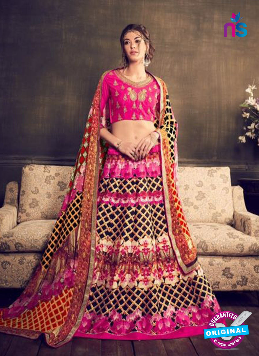 AZ 3549 Pink Banglori Silk Party Wear Lehenga