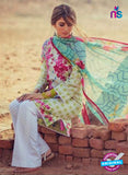 SC 13162 Multicolor and Green Cambric Cotton Pakistani Suit