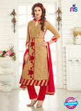 AZ 3663 Brown Georgette Party Wear Suit