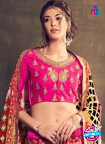 AZ 3549 Pink Banglori Silk Party Wear Lehenga - Lehengas - NEW SHOP