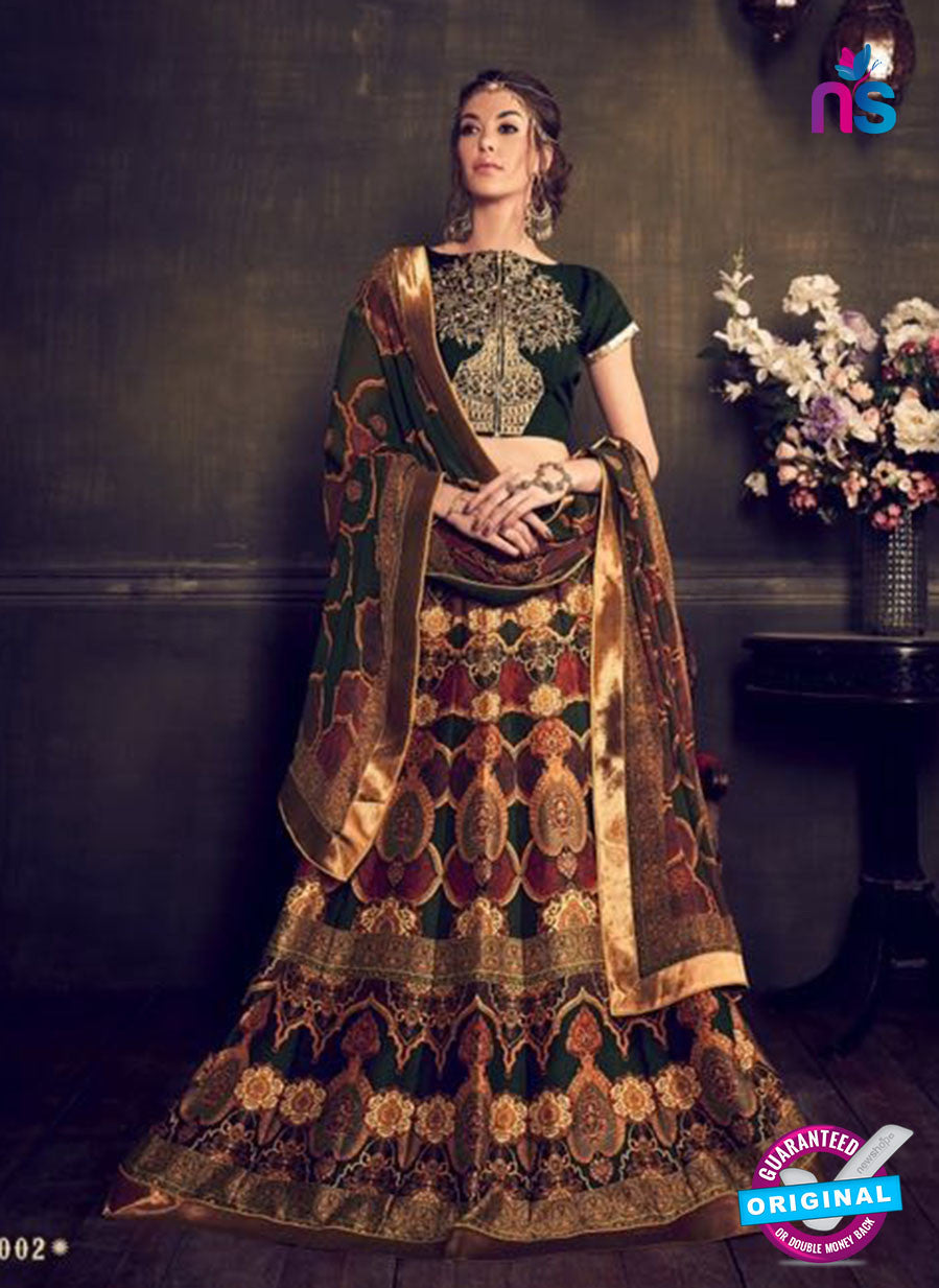 AZ 3550 Multicolor Banglori Silk Party Wear Lehenga