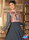 AZ 3682 Grey Faux Georgette Anarkali Suit