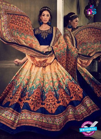 AZ 3551 Blue Banglori Silk Party Wear Lehenga