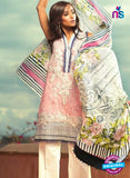 SC 13163 Pink and Beige Cambric Cotton Pakistani Suit
