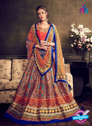 Rajtex Khwaab 14004 Multicolor Banglori Silk Party Wear Lehenga