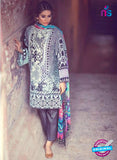 SC 13159 Blue and White Cambric Cotton Pakistani Suit