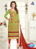AZ 3666 Green Georgette Party Wear Suit