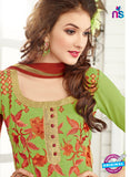 AZ 3666 Green Georgette Party Wear Suit Online