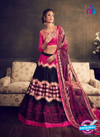 Rajtex Khwaab 14005 Black and Pink Banglori Silk Party Wear Lehenga