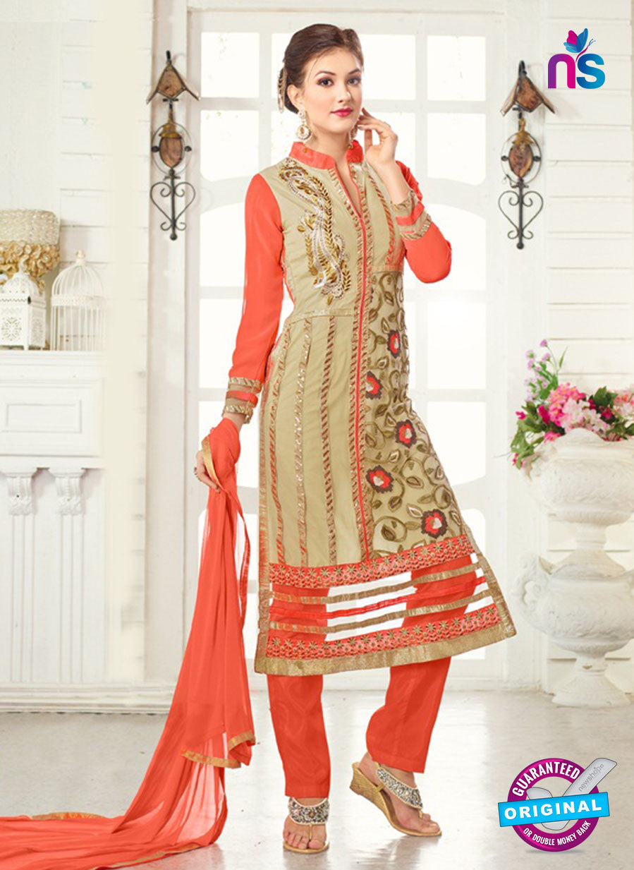 AZ 3667 Beige Georgette Party Wear Suit