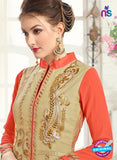 AZ 3667 Beige Georgette Party Wear Suit Online