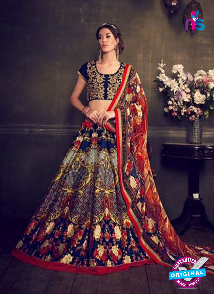 Rajtex Khwaab 14006 Blue Banglori Silk Party Wear Lehenga