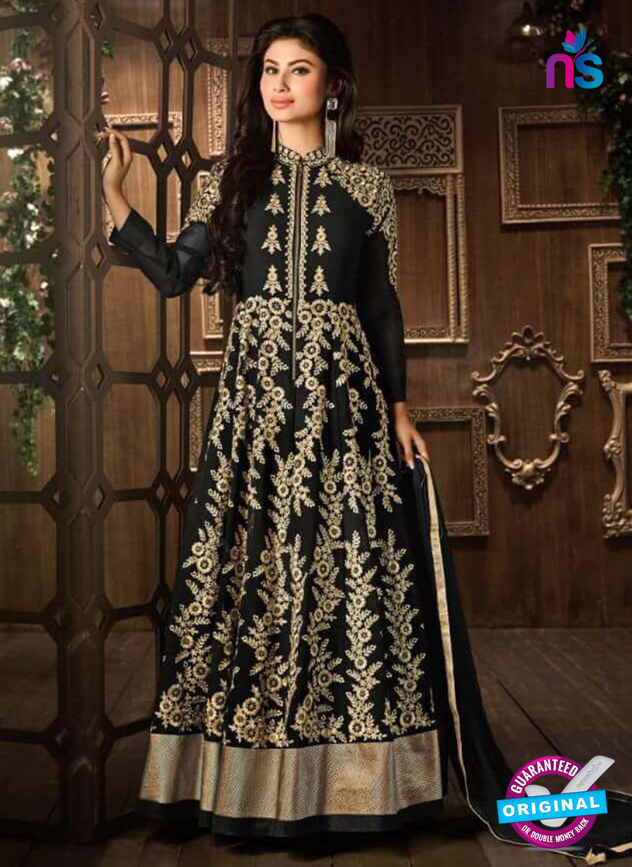 Buy Hamim 14006 Black Faux Georgette Anarkali Suit Online